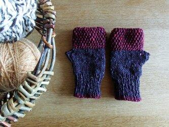 羊毛100% アイルランドの指なし手袋 / Berry(ベリー)の画像