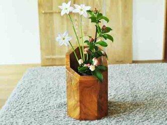 ケヤキの8角花挿しの画像