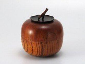けやき 茶筒 柿の画像