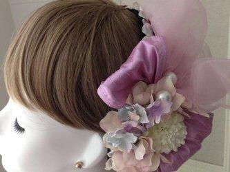 ウェディングヘットドレス  bonne ピンクの画像