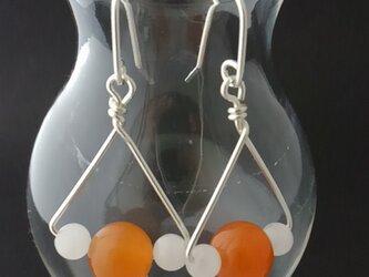 シャンデリアピアス-オレンジアベンチュリンの画像