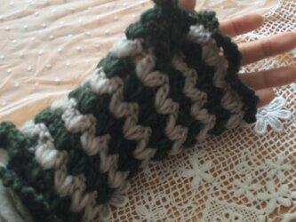 手編みニット♪ハンドウォーマーの画像