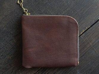 馬革L型ウォレット  / BROWN(茶色)の画像