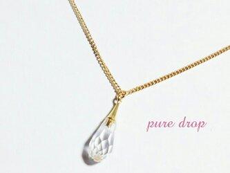 *pure drop*ネックレス《gold》の画像