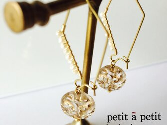 *antique style water pearl pierce np*の画像
