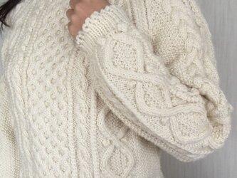 アラン模様のハイジのユキちゃんのようなセーター(再販)の画像