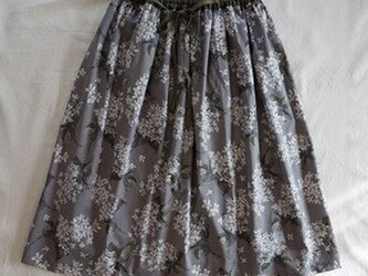 リバティ*リボンスカート(アーカイブライラック・グレー)の画像