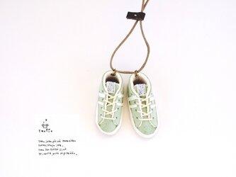スニーカーネックレス(うぐいす)の画像