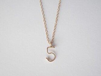 数字( ナンバー )ネックレスの画像