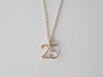 数字( ナンバー ) 2ケタネックレスの画像