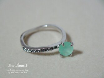 seagreen silver ring (ギフトラッピング付き)の画像