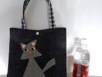 三角ネコのバッグ 小さめの画像