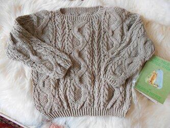 オーガニックコットン幼児セーターの画像