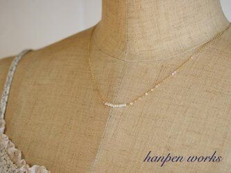 14kgf 極小 淡水ケシパール ネックレスの画像