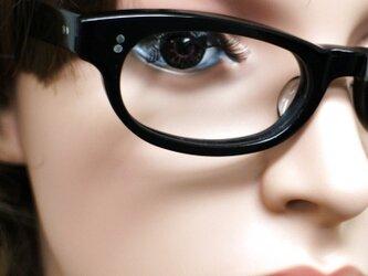 【男女兼用サイズ】丈夫に作った骨太セルロイド眼鏡GO-001-BBの画像