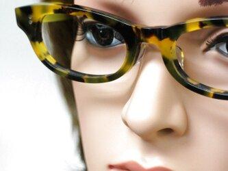 【男女兼用サイズ】丈夫に作った骨太セルロイド眼鏡001-バラYの画像