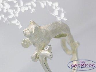 猫/ネコ/ねこ おてんば リング Silver 925 /シルバー925 サイズ7~17 DSR03の画像