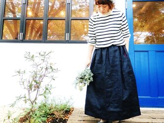 {Pocket color long skirt}ネイビーの画像