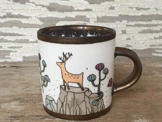 鹿さんのマグカップの画像