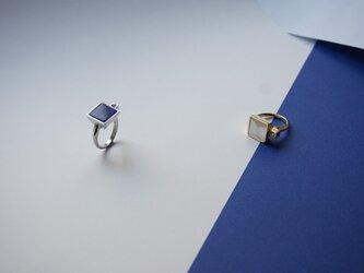 Lapis Lazuli Pt Square Ringの画像