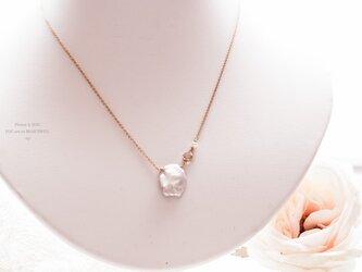 【14kgf】OnePetalペタル/Pearlクレオはなびらパールネックレス Silverシルバーの画像