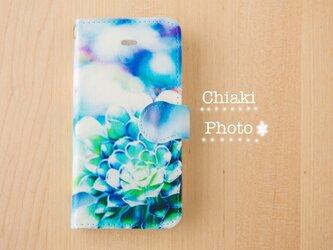 【全機種対応】Blue flower*iphone/Androidスマホケース【手帳型】の画像