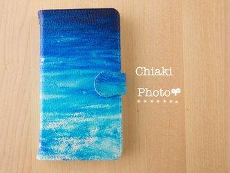 【全機種対応】Blue splash*iphone/Androidスマホケース【手帳型】の画像