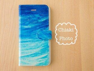 【全機種対応】Blue ocean*iphone/Androidスマホケース【手帳型】の画像
