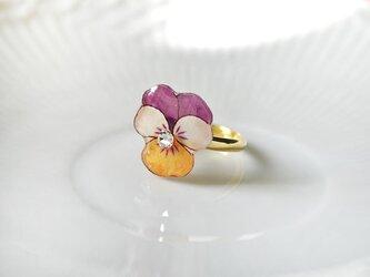 VIOLA RING ビオラの花のリングの画像