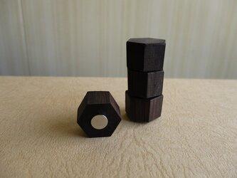木製マグネット アフリカ黒檀の画像