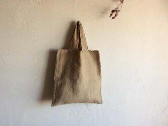 送料無料  草木染め 麻とオーガニックコットンのかばん の画像