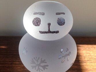 硝子の雪だるまの画像