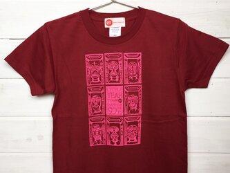 MASK TOWN バーガンディ Tシャツの画像