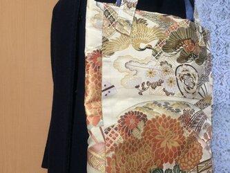 丸帯地トートバッグ・鶴柄の画像