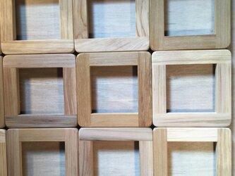 織り バイアス織り 木枠  無塗装  ナチュラルの画像