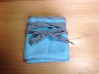 シルクふんどし 藍の生葉染めの画像