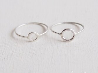 【受注制作】 Silver Circle Ring Set - thick -の画像