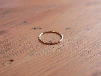 十八金極細丸棒槌目指輪 rr-56の画像