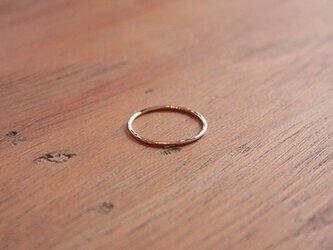 桃色十八金極細丸棒槌目指輪 rr-53の画像