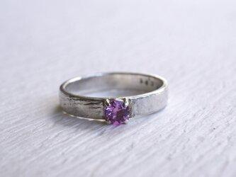Sv ピンク・キュービックジルコニアのリングの画像