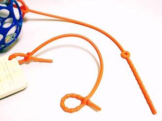 哺乳瓶のちくびと同じ素材で作ったおもちゃホルダーの画像