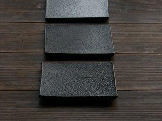 小皿(墨黒釉 フラットプレート)の画像