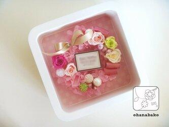 プリザーブドフラワーのリースフレーム-wreathbako-の画像
