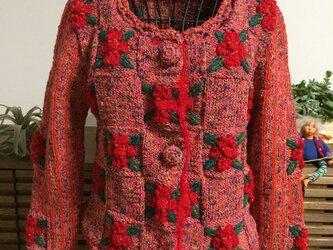 赤い花のジャケットの画像
