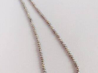淡水パールの1連ネックレス【シルバー】の画像