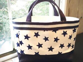 星柄  帆布Tote Bag  smallの画像