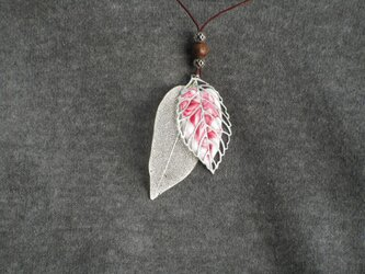 マーメルト 樹脂素材 ツインリーフピンク&ホワイトマーブルの画像