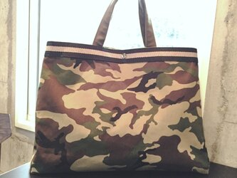 Camouflage  帆布Tote Bag  Largeの画像