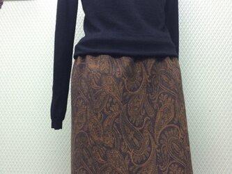 ペイズリー柄の裏カシミアスカートの画像