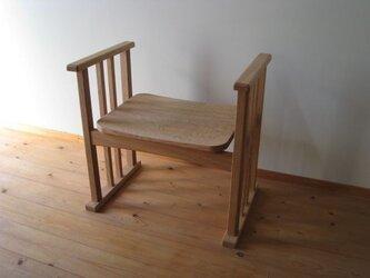 玄関椅子(板座)の画像